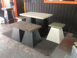 Small Rectangle Table Polished Concrete Top