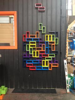 Tetris Feature Wall