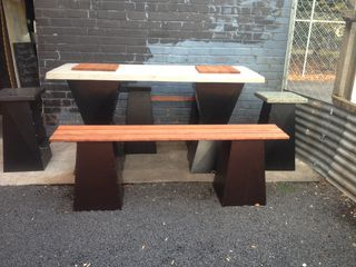 Bench Seat - Wooden Or Polished Concrete Top