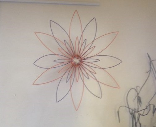 Large Flower Wire Wall Feature - Single or Double